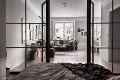 'Minimal Interior Design Inspiration' is a biweekly showcase of some of the most perfectly minimal interior design examples that we've found around the web - Interior Design Blogs, Interior Design Inspiration, Interior Decorating, Deco Design, Design Case, Interior Architecture, Interior And Exterior, Steel Frame Doors, Appartement Design