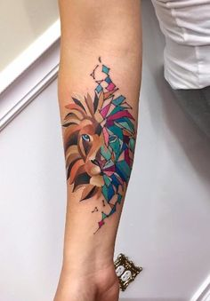 Image result for abstract lion tattoo