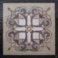 """36"""" X36"""" GEOMETRIC MARBLE MOSAIC  FLOOR  TABLE ART TILE (mudroom)"""