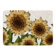 East Urban Home Sunflower Field by Art Love Passion Bath Mat