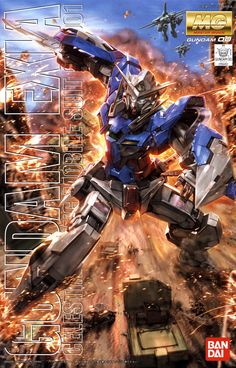This is the Scale Gundam Exia Plastic Model Kit by Bandai from the TV series Gundam Seed Gundam Exia, Gundam 00, Gundam Wing, Plastic Model Kits, Plastic Models, Anime Figures, Action Figures, Diorama, Gundam Wallpapers
