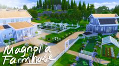 """beresims: """" ☁️🌳🏠Magnolia Farmhouse!☁️🌳🏠 💕 I'm still on a farmhouse/off the grid/live off the land kick with my sims so I built a huge family farm in Winderburg! What do you guys think? I went with a..."""