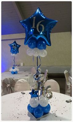 Sensational contacted quinceanera party decor Complete our survey Sweet 16 Centerpieces, Sweet 16 Decorations, Balloon Centerpieces, Birthday Decorations, Masquerade Centerpieces, Wedding Centerpieces, Balloon Topiary, Topiary Centerpieces, 60th Birthday Party