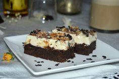 Negresa cu mascarpone si caramel | MiremircMiremirc Brownies, Caramel, Pie, Sweets, Snacks, Desserts, Cakes, Food, Mascarpone
