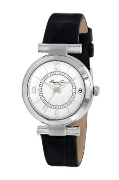 Kenneth Cole New York Women's KC2746 Classic Round Silver Dial Black Watch *** See this awesome image