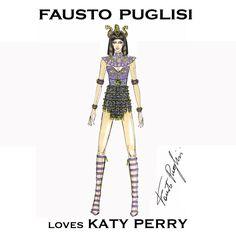 KATY PERRY'S VERY PRISMATIC TOUR WARDROBE FAUSTO PUGLISI