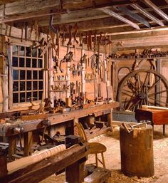 Winterthur's Dominy Clock Shop and Woodworking Shop in East Hampton, New York, from the mid-1700s to the mid-1800s.