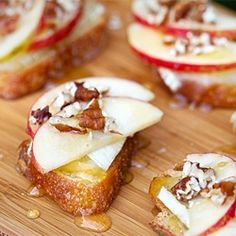 Making this for a Thanksgiving Appitizer! Apple, Brie, & Honey Bruschetta