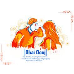 Bhai Dooj Bhau-Beej Bhai Tika Bhai Phonta is a festival celebrated by Hindus of the Indian , Happy Bhai Dooj Images, Happy Diwali Images, Festival Flyer, Festival Posters, Creative Poster Design, Creative Posters, Bhai Dooj Wishes, Happy Rakhi Images, Diwali Message