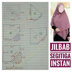 Best 12 Instead if vertical seam down front, try horizontal overlap seam under chin Hijab Style Dress, Hijab Chic, Dress Sewing Patterns, Clothing Patterns, Instant Hijab, Modele Hijab, Sewing Blouses, Hijab Tutorial, Girl Hijab
