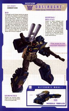 Transformer of the Day: Onslaught