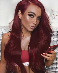 Elegant Formal Updo - 20 Unboring Styles with Magenta Hair Color - The Trending Hairstyle Magenta Hair Colors, Hair Color Auburn, Auburn Hair, Ombre Hair Color, Deep Red Hair Color, Red Ombre, Burgundy Red Hair, Burgundy Dress, Red Hair On Brown Skin
