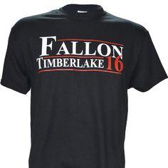 Fallon Timberlake for President 2016 on Black Short Sleeve T Shirt