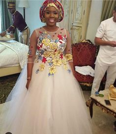 Hello divas, Ankara bridal wedding dresses is another way to rock ankara print, ankara still remain The Ankara print has widely been attributed to Africa African Dresses For Kids, Latest African Fashion Dresses, African Print Dresses, African Print Fashion, African Print Wedding Dress, African Wedding Attire, African Attire, Boda Multicultural, African Traditional Wedding Dress