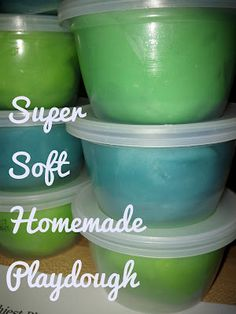 Homemade playdough in just a few minutes! Easy to make, and great for birthday presents/favors or stocking stuffers!