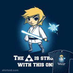 Legend of Jedi Zelda/Star Wars mash-up t-shirt