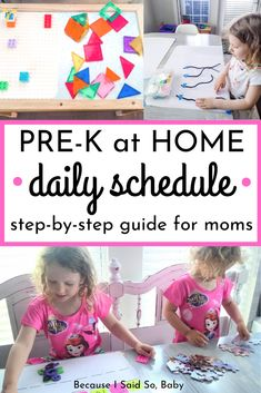 Pre-K at Home Daily Schedule