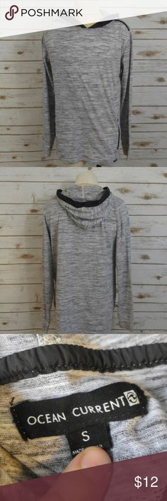 """Ocean Current Heather Gray Lightweight Hoodie Ocean Current Heather Gray Lightweight Hoodie  Size Small in good used condition. Missing hood tension string. Materials: 60% Cotton 40% Polyester Measurements taken flat: Chest: 19"""" Length: 26"""" Ocean Current Shirts Sweatshirts & Hoodies"""