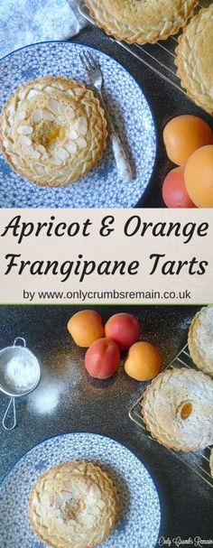 This recipe for Individual Apricot and Orange Frangipane Tarts resulted in a delicious afternoon treat.  The tarts were decorated with a pastry plait / braid around their edge.