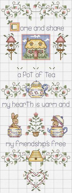 Schema punto croce Pot Of Tea