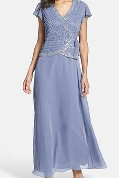 J-KARA-Periwinkle-Blue-Lilac-Mother-Of-The-Bride-Mock-2-Pc-Dress-Gown-Size-12 This color was everywhere in Elie Saab's Fall Fashion collection for 2014 ... And I love iris!