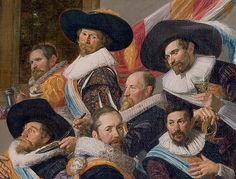 This painting features several men wearing cavalier hats.  Cavalier hats could…