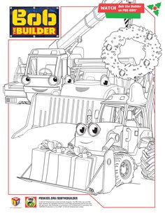 Bob The Builder Holiday Coloring Pages BobTheBuilder PBSKids