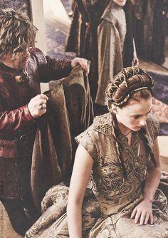 Tyrion & Sansa at their wedding