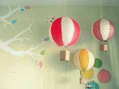 DIY paper lantern hot air balloon >> SO cute!  | followpics.co