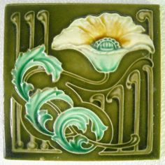 Art Tiles, Art Nouveau, New Tile, Crafts Tile, Ceramic Tile, Art Deco, Antiques, Arts N Crafts. ""