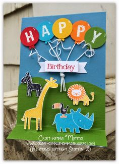 Craft-somnia Momma: Zoo Baby Birthday ~ Stylin' Stampin' Squad