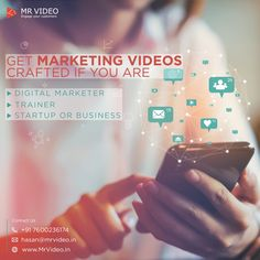 Get Marketing Videos crafted if tou are - Digital Marketer - Trainer - Startup or Business Contact us for tour Marketing Videos at hasan - Business Contact, Start Up Business, Marketing Videos, Company Profile, Business Management, Digital Marketing