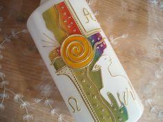 Schöne Osterkerze in Regenbogenfarben mit Lamm by bastelimperium, Hier habe ich für Sie eine sehr schöne,     kleine Osterkerze gestaltet.  Diese Osterkerze ist in wunderschönen ...