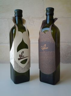 The Olio's by Ferruccio Venuti, via Behance Olive Oil Packaging, Beverage Packaging, Bottle Packaging, Brand Packaging, Wine House, Olive Oil Bottles, Tag Design, Graphic Design, Packaging Design Inspiration