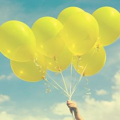 YELLOW BALLOONS fine art photograph home by alifethroughthelens