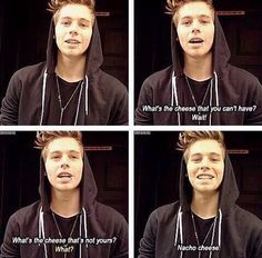 "Luke Hemmings telling a joke I remember a joke like this from Hannah Montana.i am so horrible at telling jokes its not even funny (haha i said jokes and its not even ""funny"" lol) 5sos Luke, 1d And 5sos, 5sos Imagines Luke, Luke Hemmings, 5sos Funny, 5sos Memes, Funny Puns, Bae, Luke Roberts"