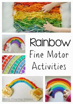 Rainbow Fine Motor Ideas for Kids from Still Playing School