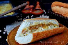 Karantika - marokańska, pieczona pasta z mąki z ciecierzycy (karan, caliente)