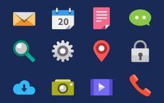 15 Gorgeous Sets With Hundreds Of Fresh Flat Designed Icons
