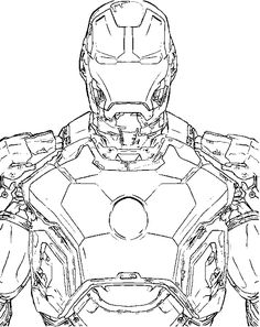 The Most Advanced Robot Iron Man Coloring For Kids