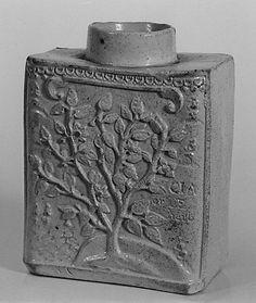 Tea Caddy 1740–50 English (Staffordshire) Salt-glazed stoneware