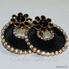 Silk thread earrings- Ramleela pattern