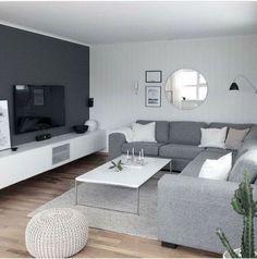 Elegant Living Room, Cozy Living Rooms, Living Room Grey, Living Room Modern, Home Living Room, Apartment Living, Apartment Layout, Tiny Living, Apartment Design