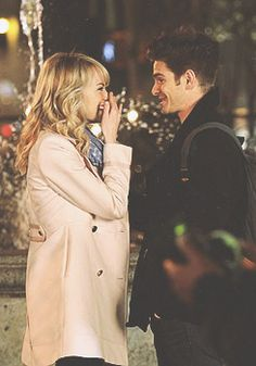 They are seriously my favorite couple. (on set of The Amazing Spiderman 2)