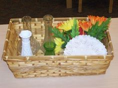 flower arrangement basket
