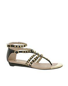 River Island Gladiator Studded Flat Sandals