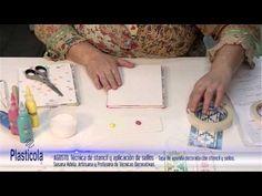 Artesanías - Decorará tu agenda y hace señaladores.Técnica de Stencil y sellos con Plasticola - YouTube