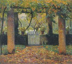 Henri Martin Garden door in Bower 1920