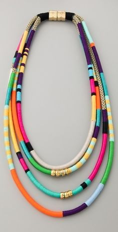 This necklace is bold and colorful, a perfect combination for summertime. Dont be afraid to make a statement.