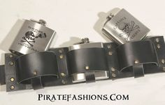 Fer the pirate that wants a variety of different liquid refreshments, this be the one to go with. • Made of qualityleather, only in pirate black color• Comes w
